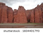 The Canyon Red Cliffs And Lake...