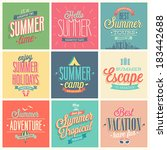 summer set   labels and emblems. | Shutterstock .eps vector #183442688