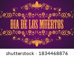 inscription day of the dead in... | Shutterstock .eps vector #1834468876
