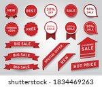 sticker design of label  ribbon ... | Shutterstock .eps vector #1834469263