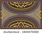 vector carpet print on a beige...   Shutterstock .eps vector #1834470400