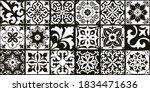set of 18 tiles azulejos in... | Shutterstock .eps vector #1834471636
