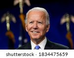 Small photo of Democratic presidential candidate former Vice President Joe Biden speaks during the fourth day of the Democratic National Convention on Aug. 20 ,2020.