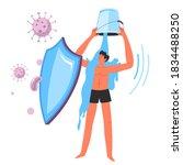 increasing protective abilities ... | Shutterstock .eps vector #1834488250