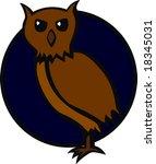 brown owl | Shutterstock .eps vector #18345031
