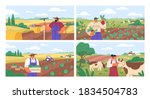 set of horizontal banners with... | Shutterstock .eps vector #1834504783