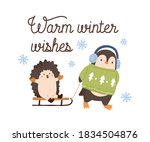 Greeting Card With Cute Animals ...