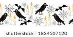 halloween seamless border....   Shutterstock . vector #1834507120