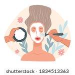 spa center or beauty salon... | Shutterstock .eps vector #1834513363