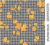 seamless houndstooth pattern...   Shutterstock .eps vector #1834542370