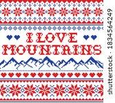 i love mountains vector...   Shutterstock .eps vector #1834564249