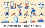 fitness sport gym equipment...   Shutterstock .eps vector #1834577803