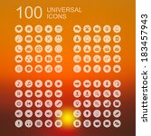 vector set of 100 universal...