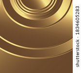 smooth light gold waves line.... | Shutterstock .eps vector #1834605283