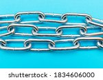Top View Close Up Metal Chain...