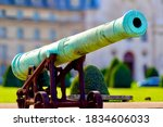 Old Cannon In Front Of Army...
