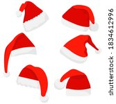 santa claus hat in flat style  ... | Shutterstock .eps vector #1834612996