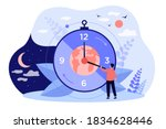 twenty four hour cycle isolated ... | Shutterstock .eps vector #1834628446