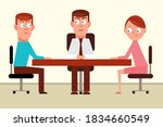 man and woman in opposing sides ...   Shutterstock .eps vector #1834660549