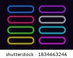 neon buttons set for web or ui...