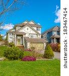 luxury house in vancouver ... | Shutterstock . vector #183467414