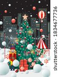 christmas in the city vector...   Shutterstock .eps vector #1834677736