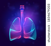 human lungs medical structure.... | Shutterstock .eps vector #1834679203