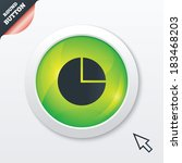 pie chart graph sign icon....