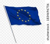 waving flag of europa flag.... | Shutterstock .eps vector #1834696756