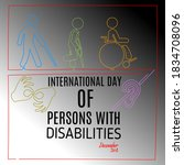 international day of persons... | Shutterstock .eps vector #1834708096