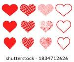 heart shape vector design... | Shutterstock .eps vector #1834712626