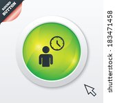 person waiting sign icon. time...