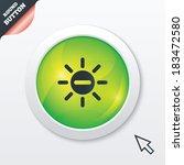 sun minus sign icon. heat...