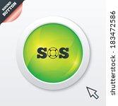 sos sign icon. lifebuoy symbol. ...