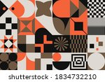 mid century geometric abstract... | Shutterstock .eps vector #1834732210