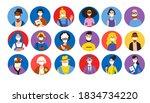 people wearing face masks big... | Shutterstock .eps vector #1834734220