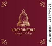 merry christmas abstract vector ... | Shutterstock .eps vector #1834744306