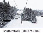 Chair Lift In Ski Center Les...