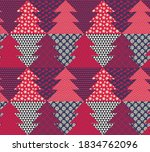 christmas tree fun patchwork... | Shutterstock .eps vector #1834762096