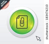 file annex icon. paper clip...