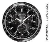 realistic silver black steel...   Shutterstock .eps vector #1834772689