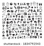 a set of internet silhouette... | Shutterstock . vector #1834792543