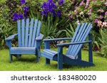 Blue Back Yard Lawn Chairs...