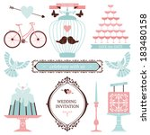 vintage collection of vector...   Shutterstock .eps vector #183480158