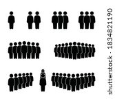 people icon set. person icon ...   Shutterstock .eps vector #1834821190