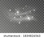glowing light effect with many... | Shutterstock .eps vector #1834826563