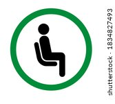 please sit here signage inside...   Shutterstock .eps vector #1834827493
