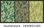 set of military camouflage... | Shutterstock .eps vector #1834831183