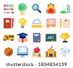 school icons. education process ... | Shutterstock .eps vector #1834834159