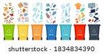 waste segregation. sorting...   Shutterstock .eps vector #1834834390